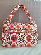 Vera Bradley Pink Folkloric Stephanie Handbag Tote Bag Flowers Unused
