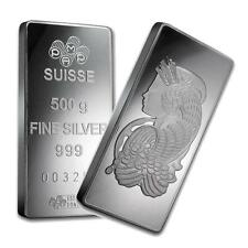One piece 500 gram 0.999 Fine Silver Bar Pamp Suisse Fortuna-35835 Lot 7745