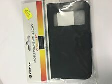 Samsung Galaxy S4 i9505 Fitted Diary Case - Slim in Black FOC4WSG203BLA by Force
