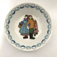 Flint Figgjo Norway Torskefiske Hand Painted Cereal Bowl Fisherman - Pre-owned