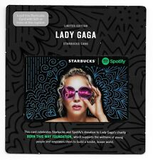 Starbucks Limited Edition Lady Gaga Spotify Gift Card 2017 Mint