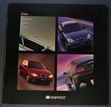 2000 Daewoo Catalog Sales Brochure Leganza Nubira Lanos Excellent Original