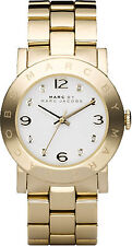 Marc Jacobs MBM3056 Amy White Dial Gold Tone Stainless Steel Women's Watch