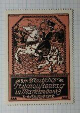 Germany Philatelic Day 1912 Philatelc Souvenir Ad Label