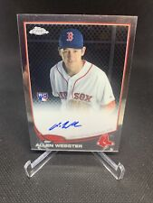 Allen Webster 2013 Topps Chrome Rookie Card On Card Auto Red Sox
