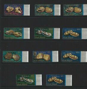 Cook Islands Set 1974 Shells S G016-025 OHMS + Surcharge