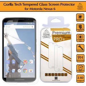 Motorola Nexus 6 Gorilla Tech Tempered Glass Screen Protector Invisible Cover