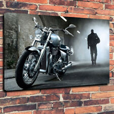 "COOL MOTO Scatola stampata foto su tela A1.30""x20"" telaio profondo 30 mm Man Grotta"