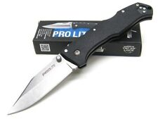 COLD STEEL Black Handle PRO LITE Straight CLIP POINT Folding Pocket Knife! 20NSC