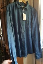 Next indigo mens denim shirt size X Large
