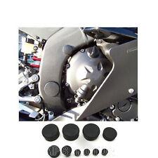 Bouchons de cadre en caoutchouc noir pour Suzuki GSXR1000 GSX-R1000 K5 2005 2006