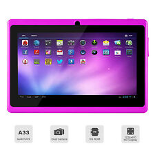 Tablette 7 pouces Android 4.4 8GB Quad Core Bluetooth Wi-Fi 8GB, jeux -  Mauve