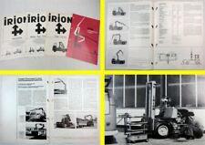 4 Prospekte Irion Langgutkranwagen Frontstapler Universalstapler 1967-1969