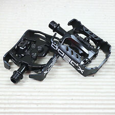 """Xpedo MTB Pedal Clipless Milo schwarz/schwarz 9/16"""" XCF13AC mit Cleats"""
