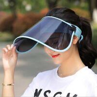 Anti-fog Sun Visor Hat Headband Cap Sun UV Protection Transparent Golf Ride Lot