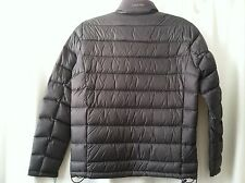 NWT Mens Calvin Klein Titanium Nylon Packable Full-Zip Premium Down Jacket S