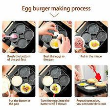 New listing Egg Frying Pan Nonstick Pancake Pans 4-Cups cookware PancakeOmelette Pan Alum.