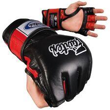 Fairtex Ultimate Combat Mma Gloves - Open Thumb - Black / Red