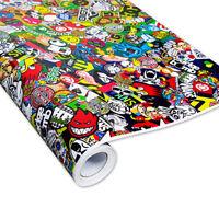 Skate Stickerbomb Auto-Folie 30x150cm Luftkanäle, Car-Wrapping, Marken & Logos