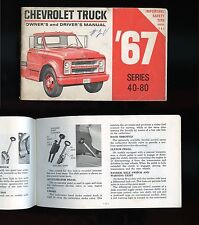 Original 1967 Chevrolet TRUCK Series 40-80 Owner's Driver's Manual 80 pages