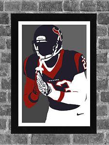 Houston Texans Arian Foster Portrait Sports Print Art 11x17