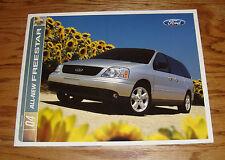 Original 2004 Ford Freestar Sales Brochure 04 LX SE SES SEL Limited