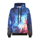 Mens Womens Space Galaxy Starry 3D Print Winter Hoodies Sweatshirt Hooded Jumper