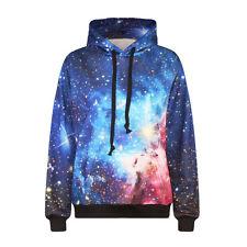 Mens Womens Space Galaxy Starry 3D Print Winter Hoodies Sweatshirt Hooded Jumper