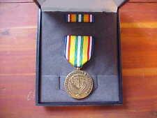 US Merchant Marine Middle East War Zone Cased Single Medal Vanguard Military