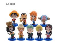 9pcs/set Anime One Piece Figures PVC Action Model Dolls Figure Toys Cute Luffy N