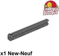 Lego technic 1x gear rack grue treuil crémaillère 1x14x2 gris foncé 18942 NEUF