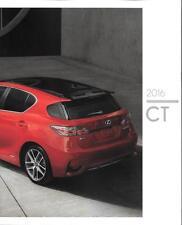 2016 16  Lexus CT original sales brochure