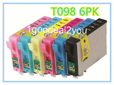 6PK Ink For Epson 98 T098 T0981-T0986 Artisan 800 810 835 837 700 710 725 730