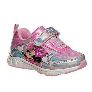 Toddler Girls' Minnie Mouse Light-Up Sneaker Shoes, size: 6 7 8 9 10 11 12 Sale!