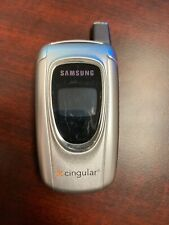 Samsung Sgh-X497 Cingular Silver Flip Cell Phone * Not Tested * Read Description