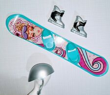 My Scene Chillin' Out Nolee Accessories: Silver Ski Helmet Snowboard Ski Boots