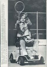 1972 Alabama Governor George Wallace Plays Tennis Motorized Cart Press Photo