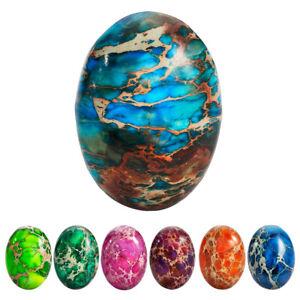 5x Oval Cabochon Semi-Precious Stones Sea Sediment Jasper Healing Reiki Gemstone