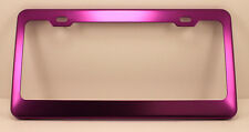 PURPLE Anodized ALUMINUM Standard License Plate Tag Frame