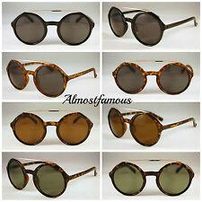 Round Keyhole Metal Bridge Hipster Sunglasses Good Quality Vintage Style Remade