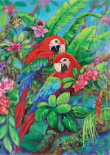 New listing New Large Toland House Flag Beautiful Scarlet Macaws Parrots Macaw 28 X 40