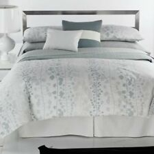 "Calvin Klein Cottonwood White Quilted Net-Stone 12"" x 16"" Decorative pillow"
