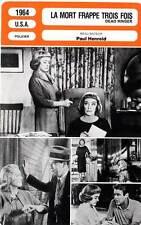 FICHE CINEMA : LA MORT FRAPPE TROIS FOIS - Davis,Malden 1964 Dead Ringer