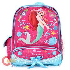 """Disney Little Mermaid Ariel School Backpack11"""" Medium Small Bag Pink  Pearl"""