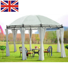 Large Metal Gazebo Marquee Outdoor Garden Party Tent Canopy Shelter Pavilion 4X3