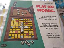Vintage waddingtons play on words game 1973 complete