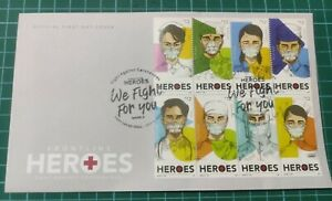 2021 Philippines Fight Virus Pandemic Medical Frontliner Heroes Stamp FDC #2