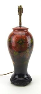 Moorcroft Flambe Clematis Pattern Table Lamp - Made in England