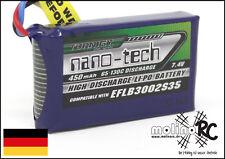 1x Turnigy nano-tech 450mAh 2S 65C -130C NEU Lipo Akku 7,4V Blade 130X