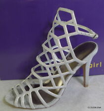 MADDEN GIRL Size 9 DIRECTT Silver Caged Strap Ankle Buckle Sandals Shoes